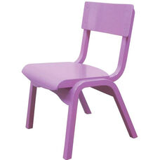 Carlo Junior Armless Stack Chair with Wooden Seat - 12