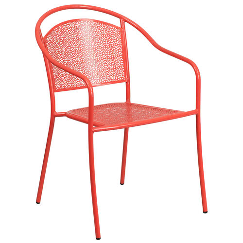 Our Coral Indoor-Outdoor Steel Patio Arm Chair with Round Back is on sale now.