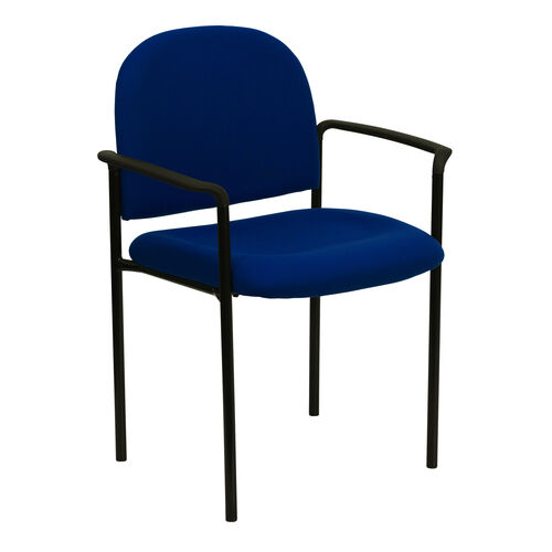 Our Comfort Navy Fabric Stackable Steel Side Reception Chair with Arms is on sale now.