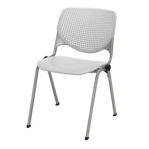 Our 2300 KOOL Series Stacking Poly Armless Chair with Perforated Back and Silver Frame - Light Grey is on sale now.