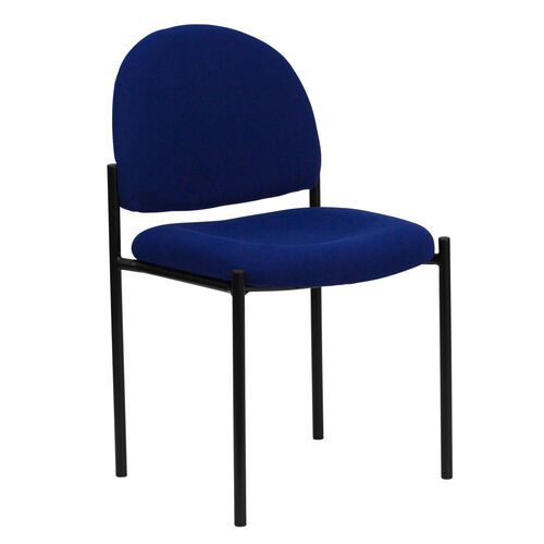 Our Comfort Navy Fabric Stackable Steel Side Reception Chair is on sale now.