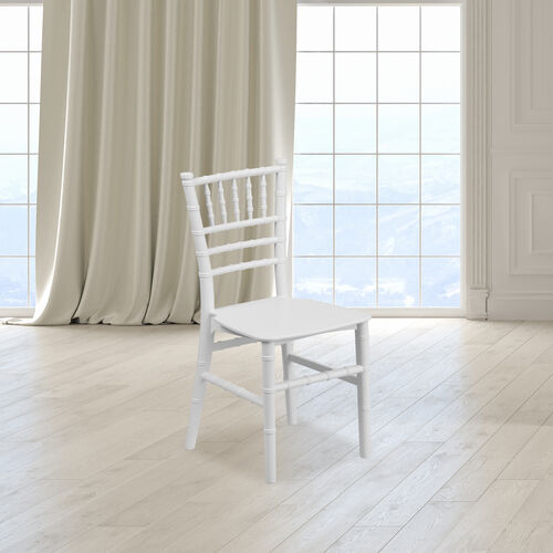 Our Kids White Resin Chiavari Chair is on sale now.