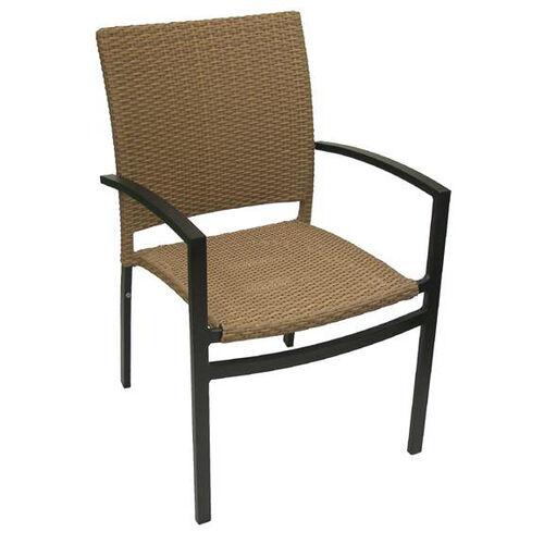 Oviedo Hand Polished Tubular Aluminum Stackable Arm Chair
