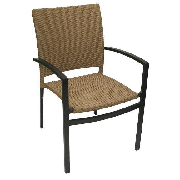 ... Our Oviedo Hand Polished Tubular Aluminum Stackable Arm Chair    Cappuccino Is On Sale Now.