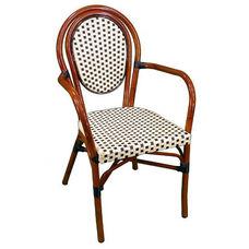 Parisienne Durable Aluminum Indoor/ Outdoor Stackable Arm Chair