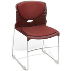 300 lb. Capacity Stack Chair with Fabric Seat and Back - Wine