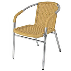Key West Collection Stackable Outdoor Chair with Arm Wraps