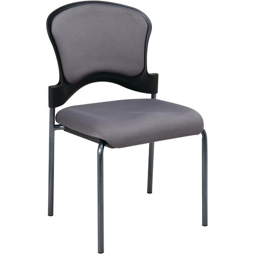 Our Pro-Line II Armless Upholstered Contour Back Stacking Visitors Chair with Titanium Finish Frame - Carbon is on sale now.