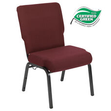 Advantage 20.5 in. Maroon Molded Foam Church Chair