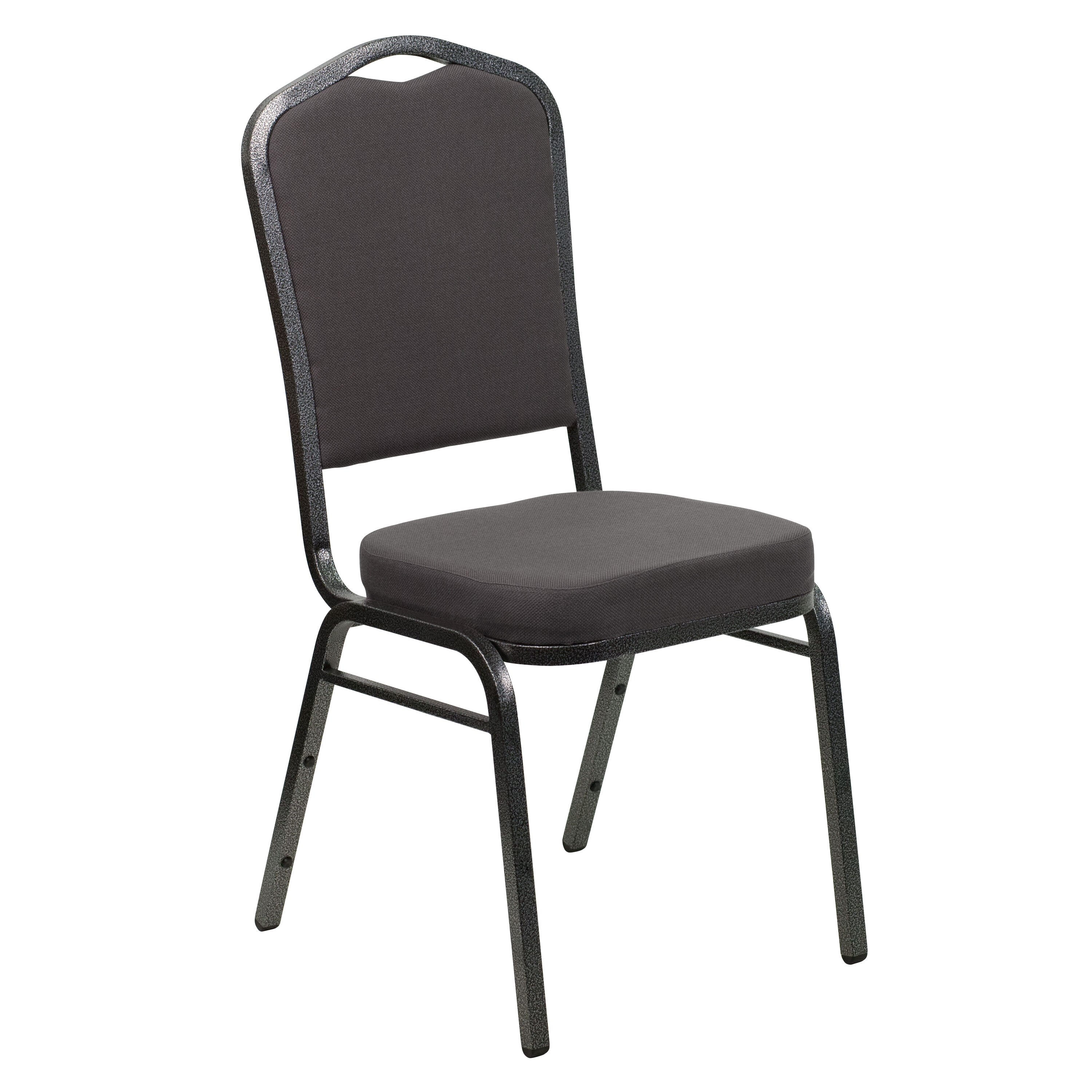 Flash Furniture HERCULES Series Crown Back Stacking Banquet Chair In Gray  Fabric   Silver Vein Frame FD C01 SILVERVEIN GY GG   StackChairs4Less.com
