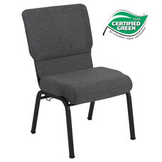 Advantage 20.5 in. Black Marble Molded Foam Church Chair