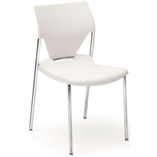 Our Arriva Four Leg Stacking Chair - White Shell with Chrome Frame is on sale now.