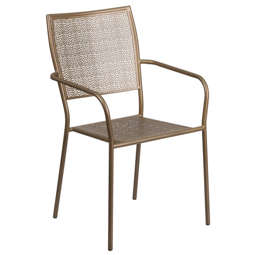 Our Gold Indoor-Outdoor Steel Patio Arm Chair with Square Back is on sale now.