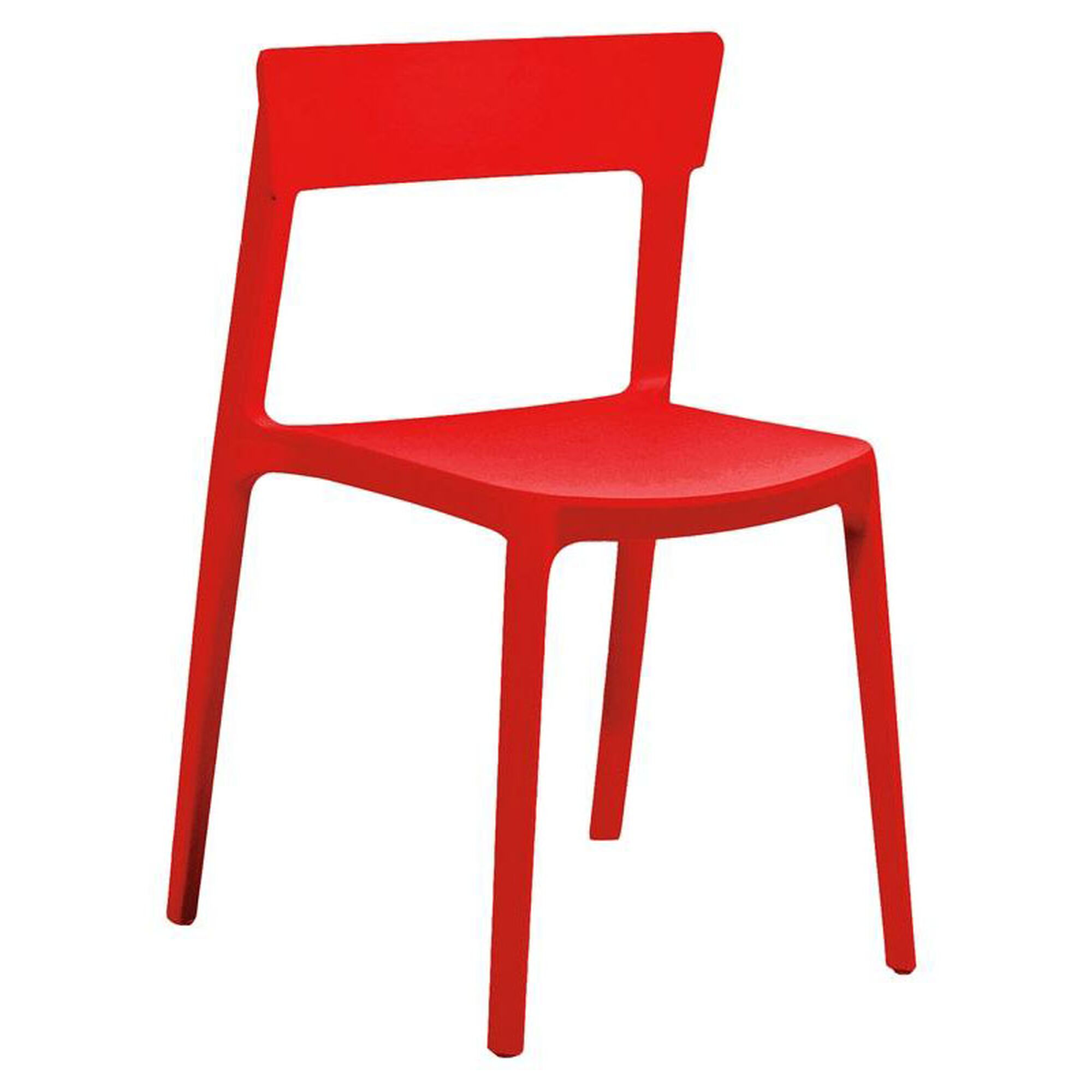 Design Lab Mn Rho Red Modern Stackable Side Chair Set Of