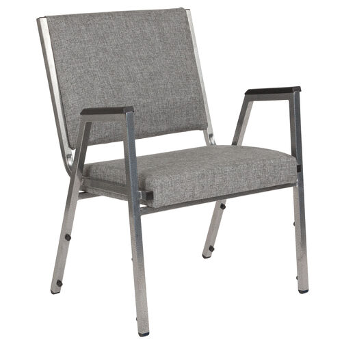 Our HERCULES Series 1500 lb. Rated Gray Antimicrobial Fabric Bariatric Medical Reception Arm Chair is on sale now.