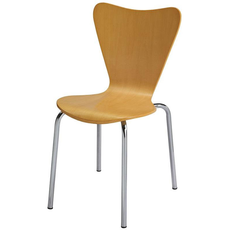 ... Our 3800 Series Bentwood Stacking Armless Cafe Chair With Chrome Frame    Natural Is On Sale ...