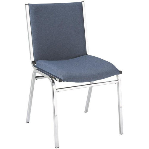 400 Series Stacking Square Steel Frame Armless Hospitality Chair with Full Back and 2