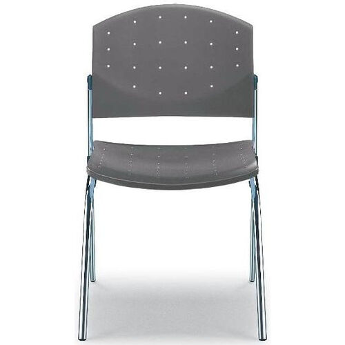 Our Eddy 4-Post Chrome Stack Side Chair with Upholstered Seat Pad is on sale now.