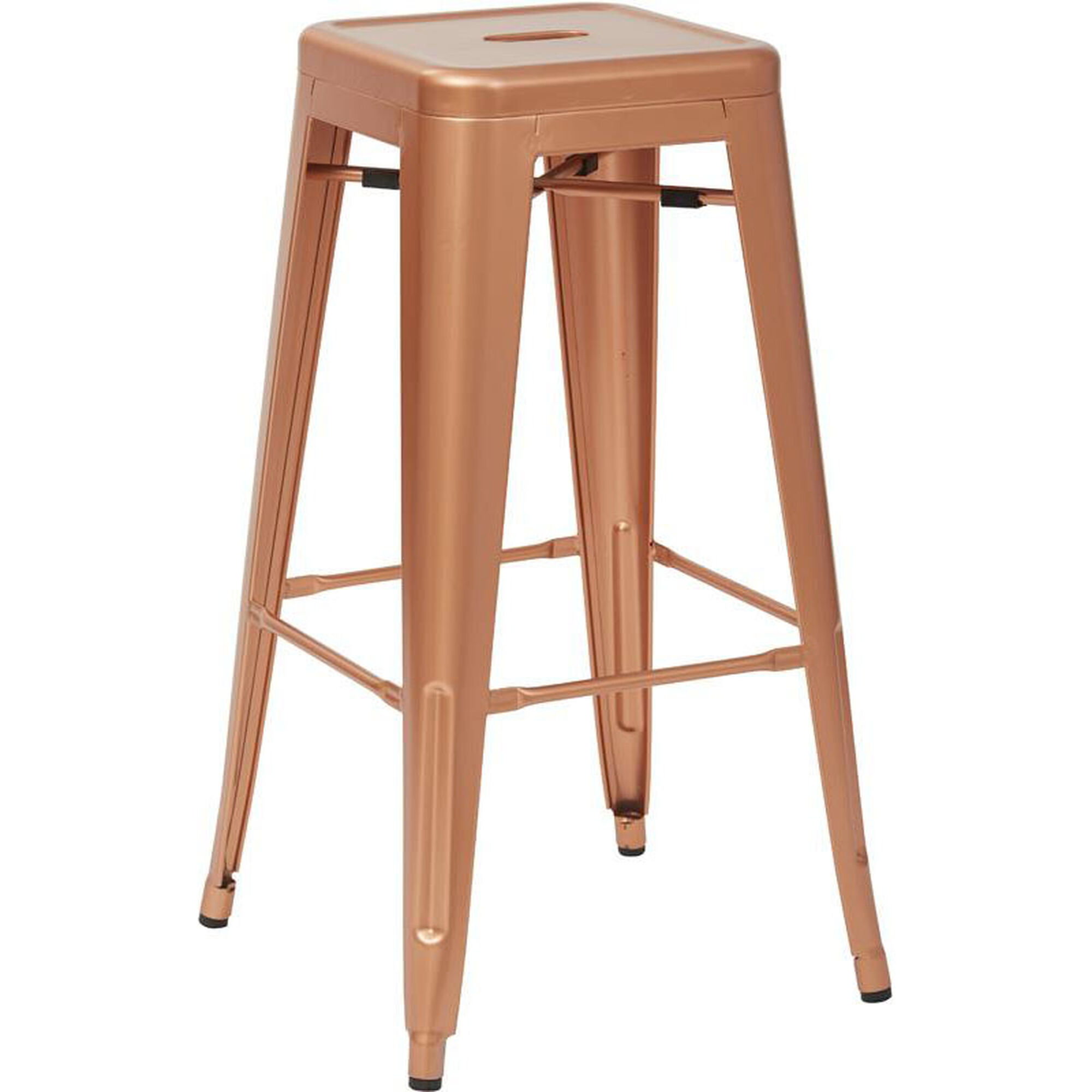 Set Of 4 Copper Metal Barstool Brw3030a4 Cp Stackchairs4lesscom