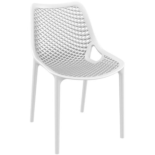 Our Air Modern Resin Outdoor Dining Chair - White is on sale now.