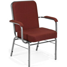 Comfort Class Big & Tall 500 lb. Capacity Arm Stack Chair - Pinpoint Burgundy Fabric