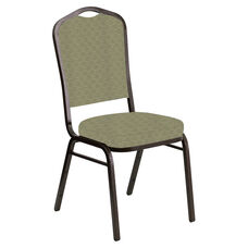 Crown Back Banquet Chair in Arches Moss Fabric - Gold Vein Frame
