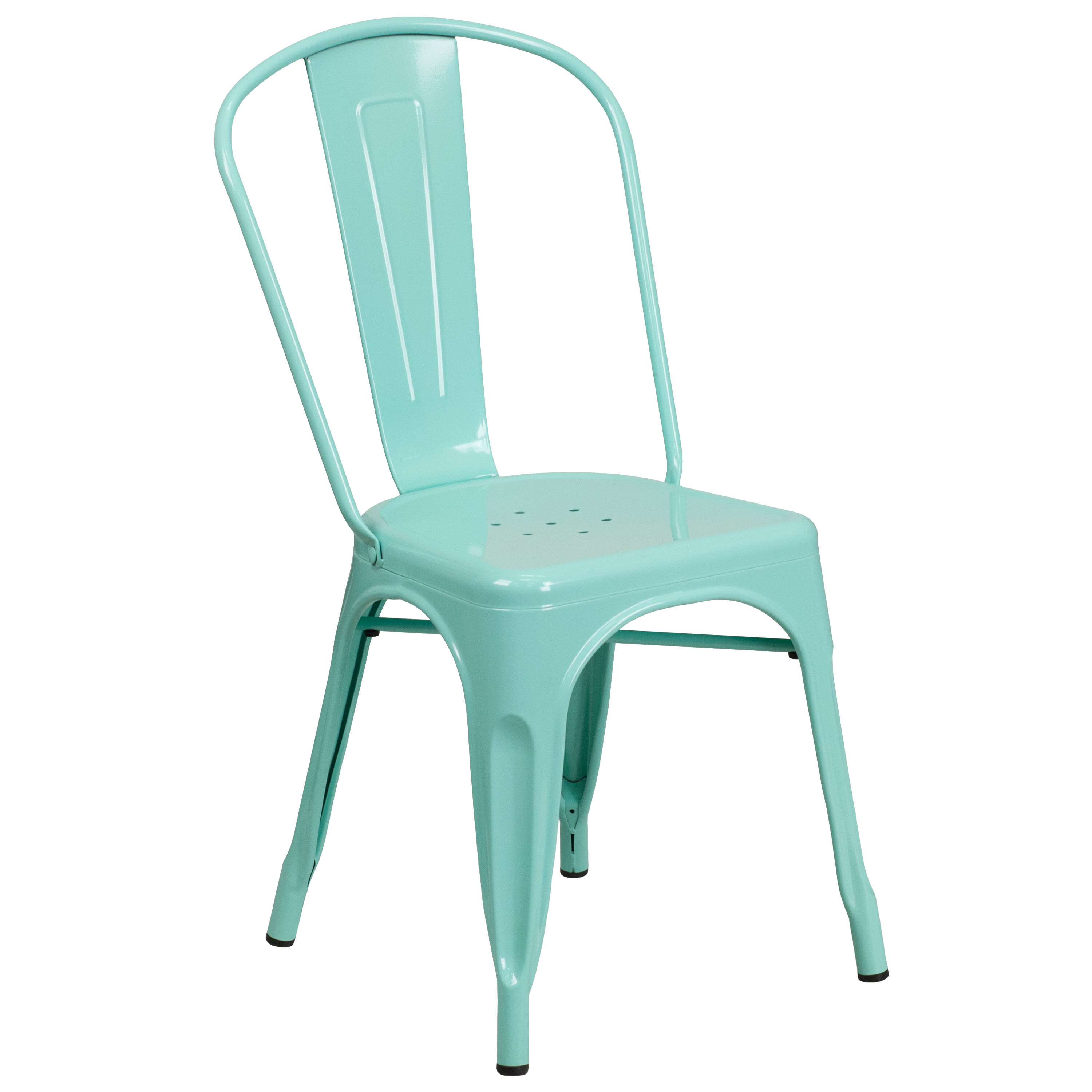 Outdoor metal chair Designer Mint Green Metal Indooroutdoor Stackable Chair The Martha Stewart Blog Stackchairs4less Dining Stack Chairs