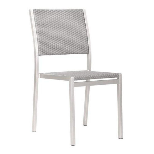 Our Metropolitan Dining Armless Chair in Brushed Aluminum is on sale now.