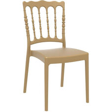 Napoleon Outdoor Resin Stackable Wedding Chair - Gold
