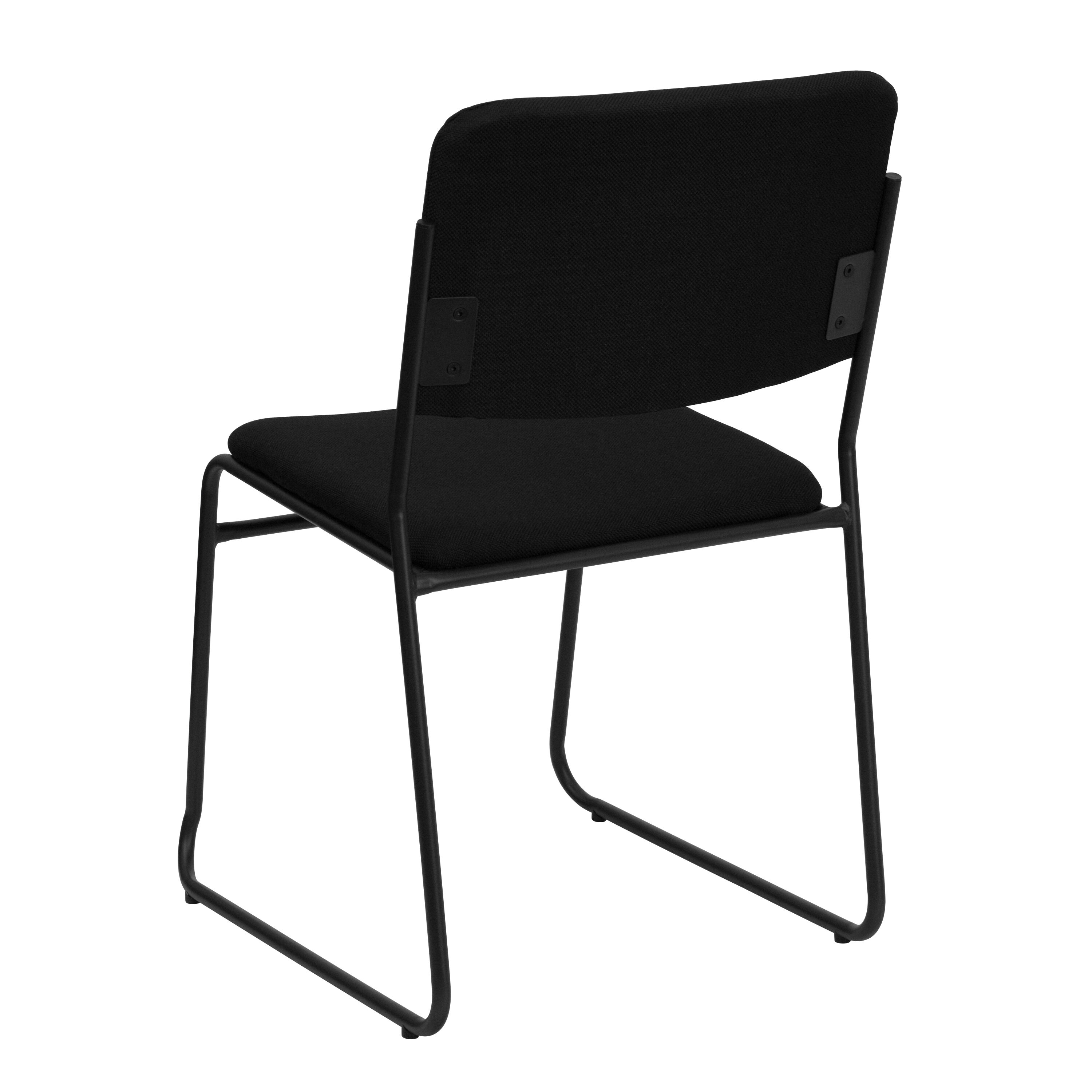 ... Our HERCULES Series 1000 Lb. Capacity High Density Black Fabric Stacking  Chair With Sled Base ...