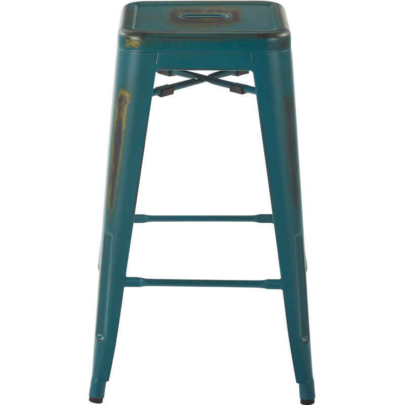 Office Star Products OSP Designs Bristow 26u0027u0027 Antique Metal Barstools   Set  Of 2   Antique Turquoise BRW3026A2 ATQ | StackChairs4Less.com