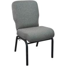 Advantage Signature Elite Charcoal Gray Church Chair - 20 in. Wide
