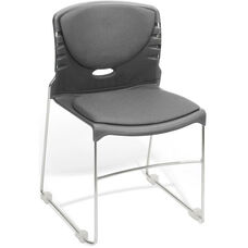 300 lb. Capacity Stack Chair with Fabric Seat and Back - Gray