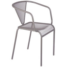 Venice Beach Micro Mesh Stacking Arm Chair - Titanium Silver
