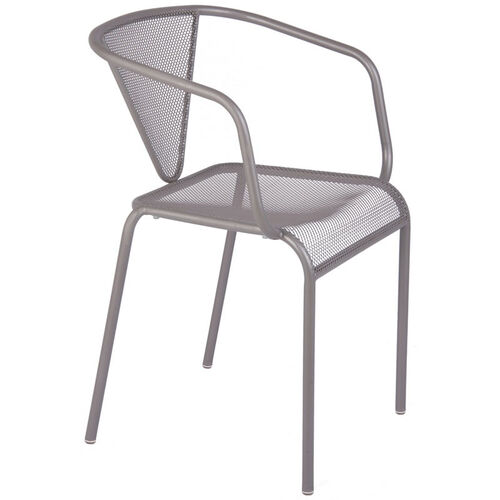 Our Venice Beach Micro Mesh Stacking Arm Chair - Titanium Silver is on sale now.