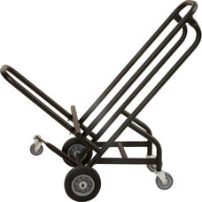 22''W x 43''D Steel Frame Stack Chair Truck with 5 Casters - Black