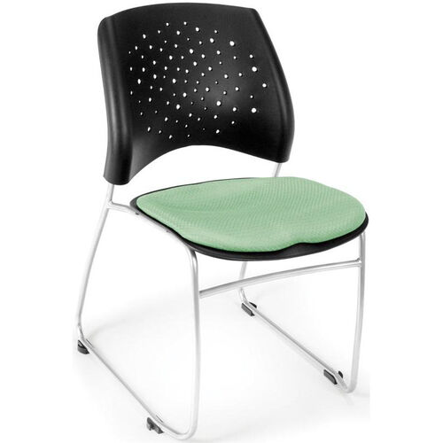 Our Stars Stack Chair - Sage Green Seat Cushion is on sale now.