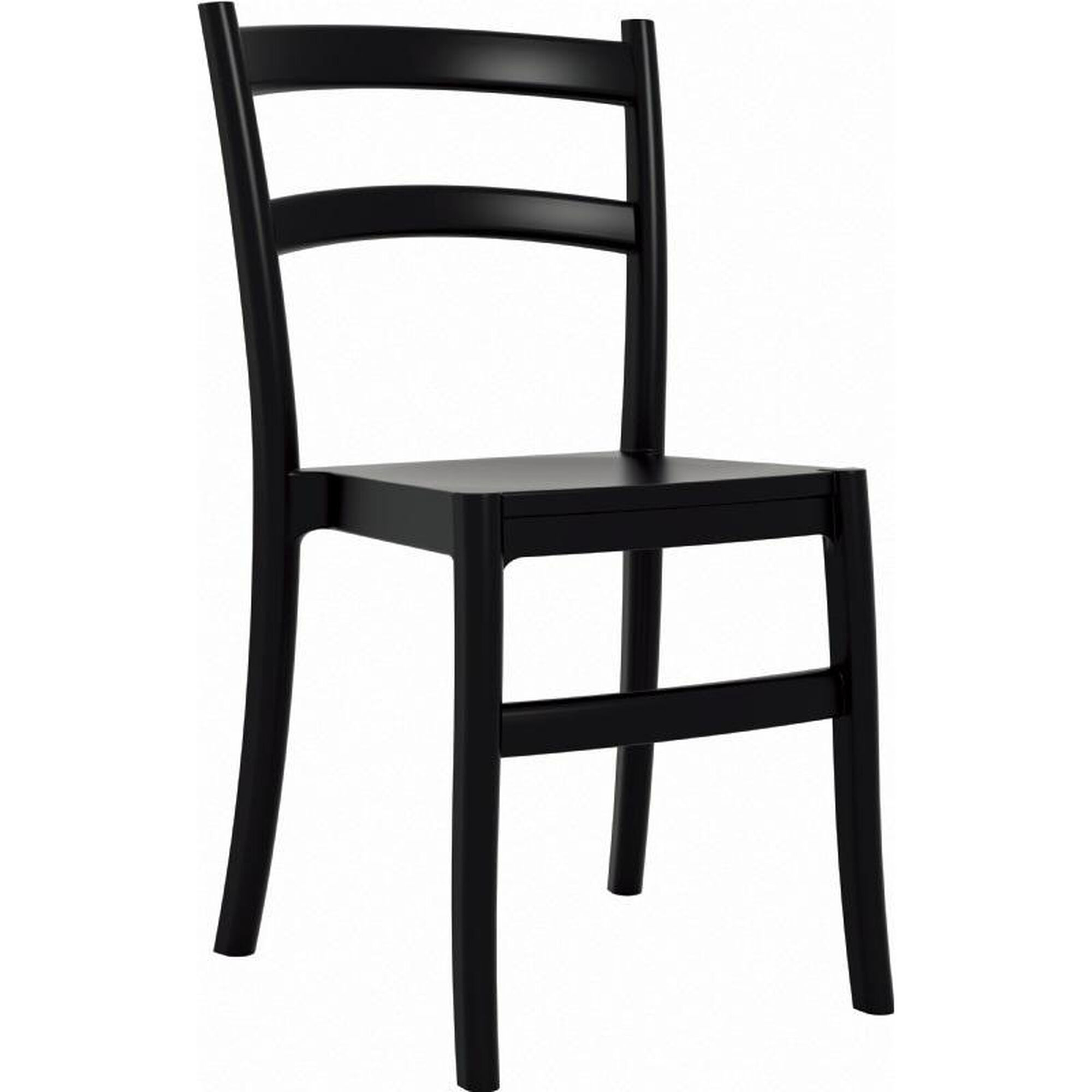 Swell Tiffany Outdoor Resin Cafe Style Stackable Dining Chair Black Ncnpc Chair Design For Home Ncnpcorg