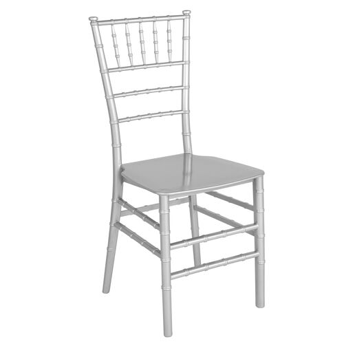 """Our HERCULES Series Silver Resin Stacking Chiavari Chair with <span style=""""color:#0000CD;"""">Free </span> Cushion is on sale now."""