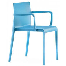 Pedrali Stackable Poly Shell Outdoor Arm Chair - Blue