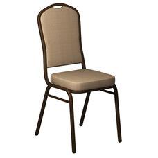 Crown Back Banquet Chair in Biltmore Butternut Fabric - Gold Vein Frame