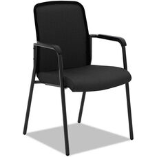 Basyx® VL518 Series Mesh Back Multi-Purpose Stacking Arm Chair - Black