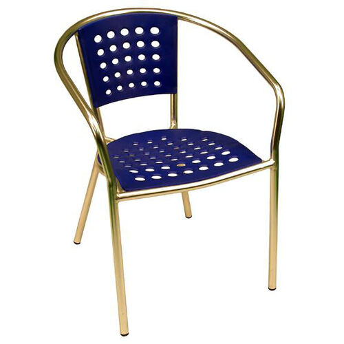 Our South Beach Hand Polished Tubular Aluminum Stackable Club Chair - Blue is on sale now.