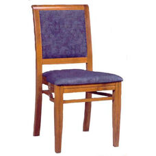 609 Stacking Chair w/ Upholstered Back & Seat - Grade 1