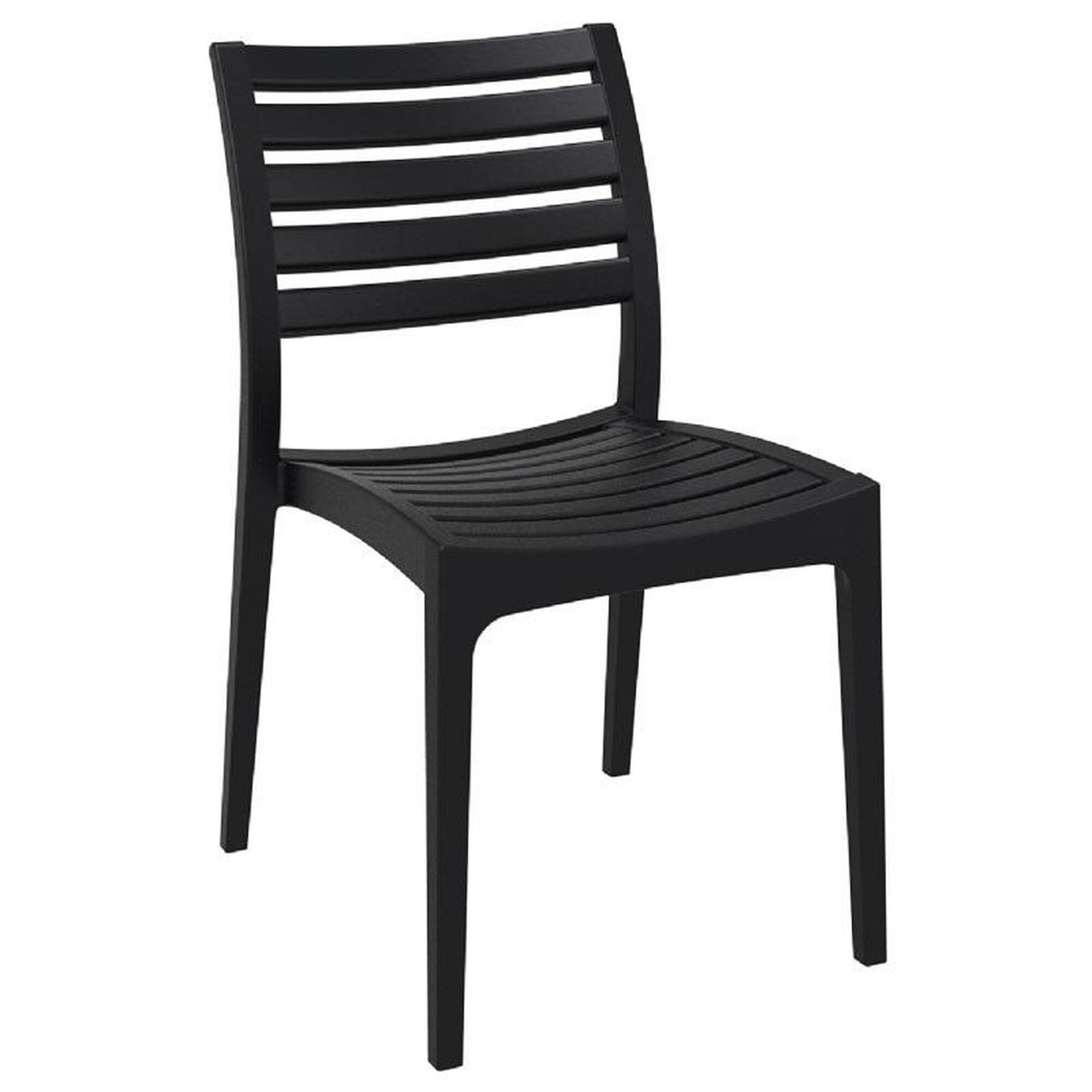 black stacking dining chair isp009 bla. Black Bedroom Furniture Sets. Home Design Ideas