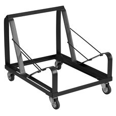 HERCULES Series Black Steel Sled Base Stack Chair Dolly