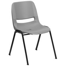 HERCULES Series 880 lb. Capacity Gray Ergonomic Shell Stack Chair