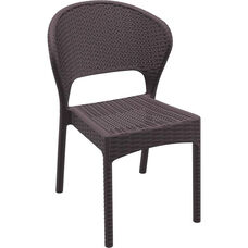 Daytona Outdoor Wickerlook Resin Dining Chair - Brown