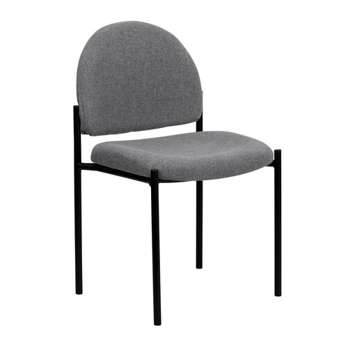 Our Comfort Gray Fabric Stackable Steel Side Reception Chair is on sale now.