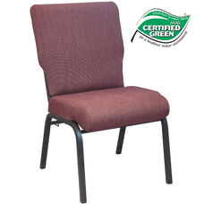 Advantage 20.5 in. Black Cherry Molded Foam Church Chair